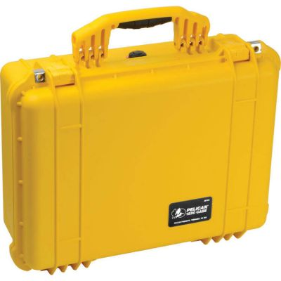 Pelican 1520 Yellow Case with Padded Dividers