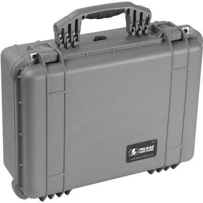 Pelican 1520 Silver Case with Padded Dividers