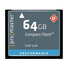 ProMaster CompactFlash Performance 64GB 500x 75MB/s Memory Card