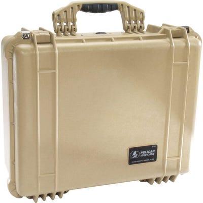 Pelican 1550 Desert Tan Case with Foam