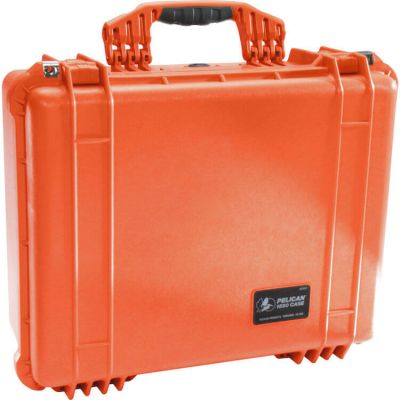 Pelican 1550 Orange Case with Padded Dividers