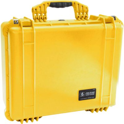 Pelican 1550 Yellow Case with Padded Dividers