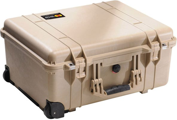 Pelican 1560 Desert Tan Case with Papped Dividers