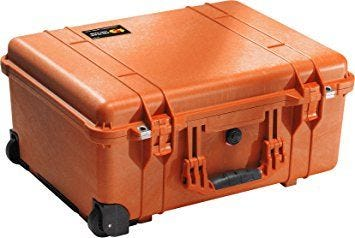 Pelican 1560 Orange Case with Papped Dividers