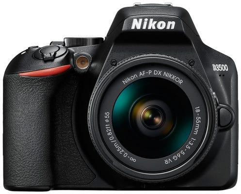 Nikon D3500 Digital SLR Camera w/AF-P DX 18-55mm VR Lens