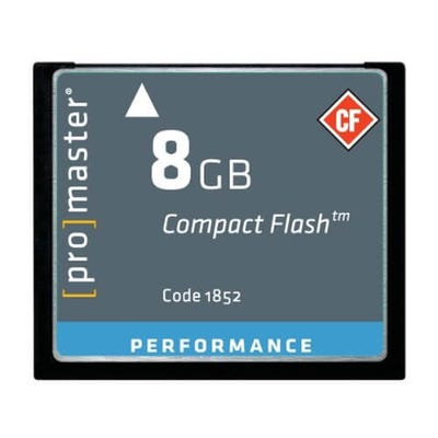 ProMaster CompactFlash Performance 8GB 500x 75MB/s Memory Card
