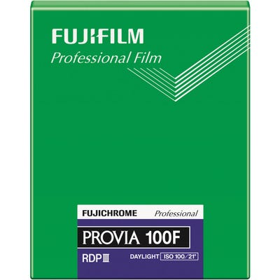 "Fujifilm Fujichrome Provia 100F RDPIII 4x5"" Film 20 sheet - Pro Colour Transparency Film"