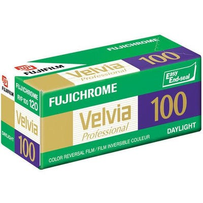Fujifilm Fujichrome Velvia 100 120/12 Roll Film - 5 Pack - Pro Colour Transparency Film