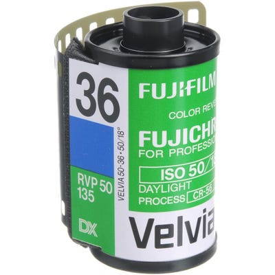 Fujifilm Fujichrome Velvia 50 35mm 36 Exposure - Pro Colour Transparency Film