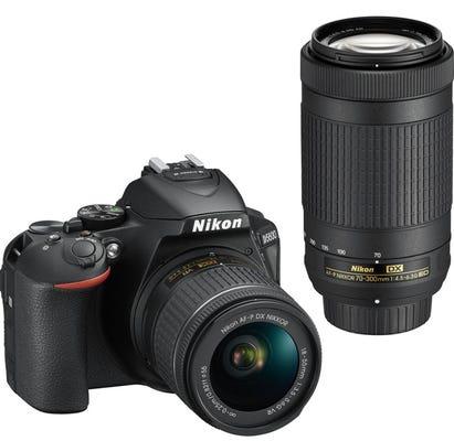 Nikon D5600 w/18-55mm & 70-300 mm AF-P VR Black Digital SLR Camera