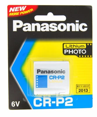 Panasonic CR-P2 6V Lithium Battery