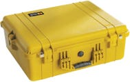 Pelican 1600 Yellow Case with Padded Dividers