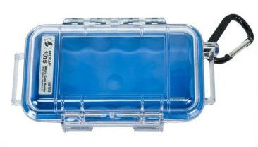 Pelican 1015 Micro Clear Case - Blue with Blue Liner