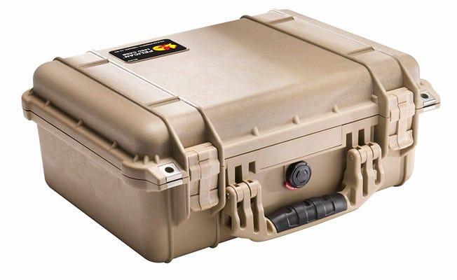 Pelican 1450 Desert Tan Case with Foam