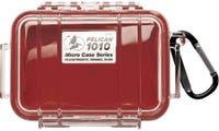 Pelican 1010 Micro Clear Case - Red with Red Liner