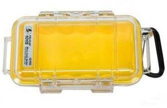 Pelican 1015 Micro Clear Case - Yellow with Yellow Liner