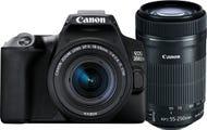 Canon EOS 200D Mark II w/EFS 18-55mm f/4-5.6IS STM,55-250mm f/4-5.6IS STM Lens DSLR Camera