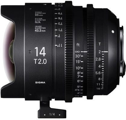 Sigma 14mm T2 CINE Lens - Arri PL Mount
