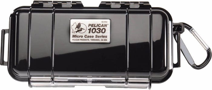 Pelican 1030 Micro Case - Black with Black Liner
