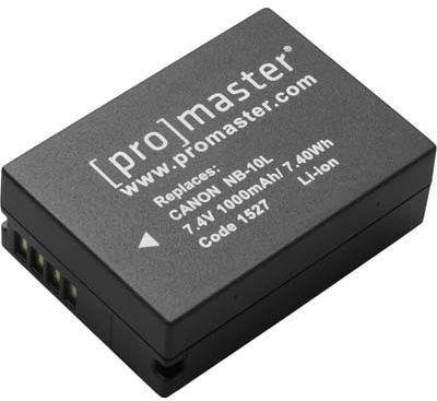 ProMaster Canon NB-10L Battery