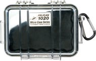 Pelican 1020 Micro Clear Case - Black with Black Liner