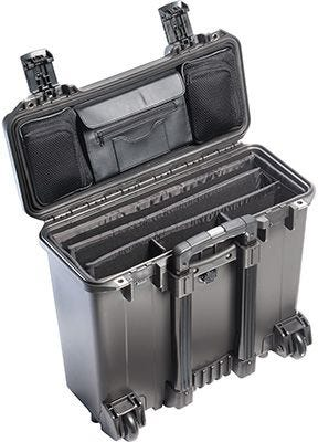 Pelican 140 Black Case with Office Divider Lid