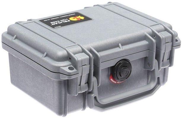 Pelican 1120 Silver Case with Foam