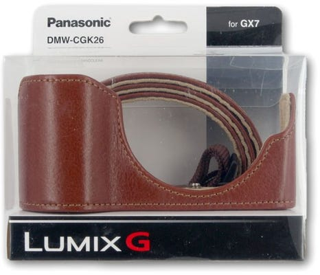 Panasonic Brown Lumix G Leather Body Case & Strap