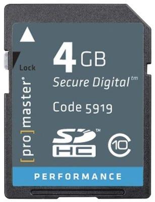 ProMaster SDHC Performance 4GB (2.0) - V10 Memory Card