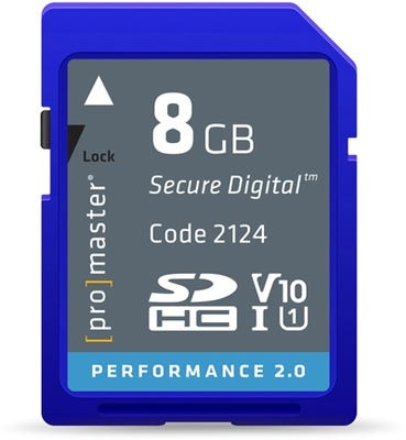 ProMaster SDHC Performance 8GB (2.0) - V10 Memory Card