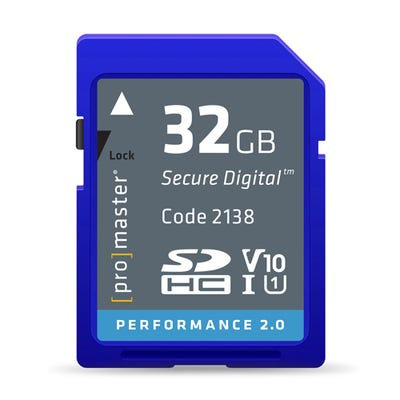 ProMaster SDHC Performance 32GB (2.0) - V10 Memory Card