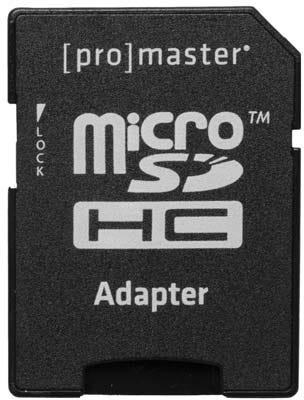 ProMaster microSD Performance 128GB 375X 56MB/s Memory Card with Adapter