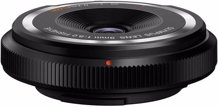 Olympus 9mm f/8.0 Black Fisheye Body Cap Lens