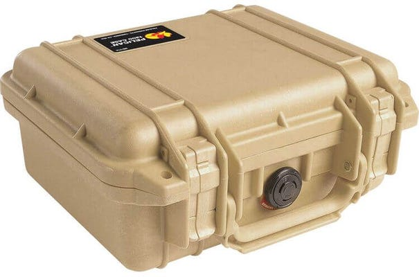 Pelican 1200 Desert Tan Case with Foam