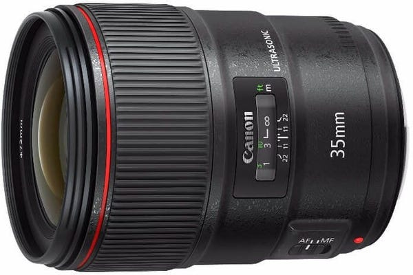 Canon EF 35mm f/1.4L II USM Professional Wide Angle Lens