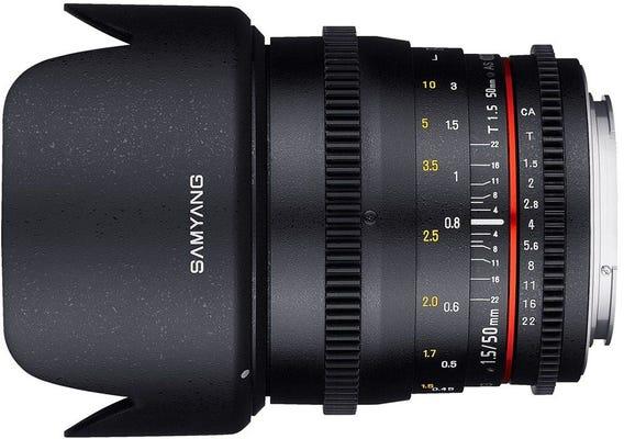 Samyang 50mm T1.5 VDSLR UMC II Canon EOS Full Frame Lens