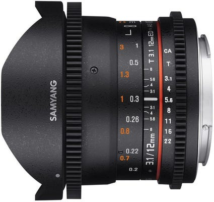 Samyang 12mm T3.1 VDSLR Nikon Full Frame