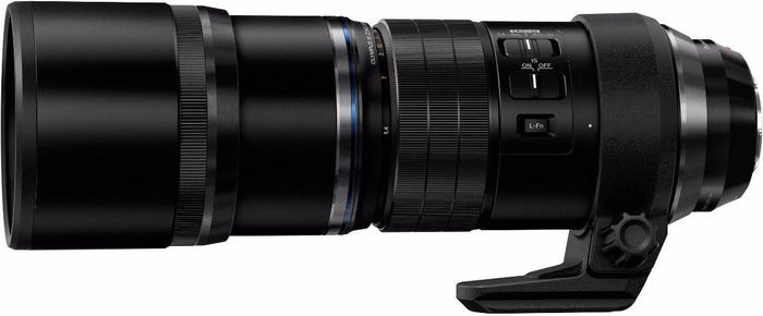 Olympus M.Zuiko ED 300mm f/4.0 IS PRO Black Lens