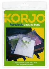 Korjo Resealable Plastic Packing Bags