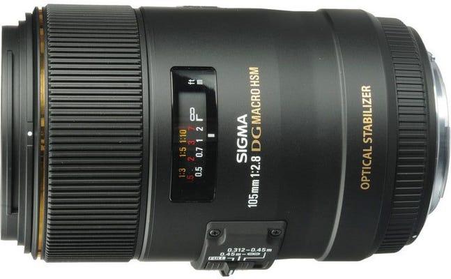 Sigma 105mm f/2.8 EX DG OS HSM Macro Lens - Canon