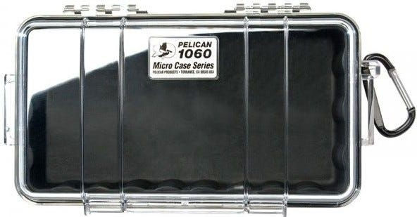 Pelican 1060 Micro Clear Case with Black Liner
