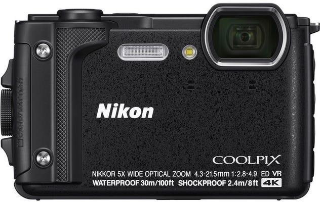 Nikon Coolpix W300 Black Digital Compact Camera w/Black Silicon Jacket