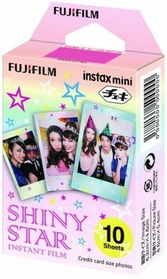 Fujifilm Instax Mini - Shiny Star Instant Film (10 Sheets)