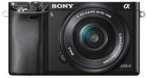 Sony Alpha A6000 Black w/ NEX 16-50mm f/3.5-5.6 Lens Compact System Camera