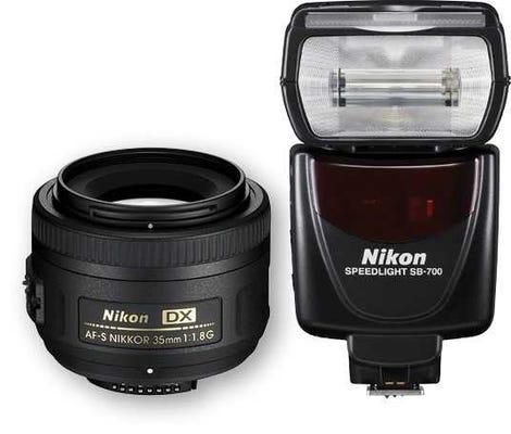 Nikon 35mm Portrait Kit inc./ AF-S DX 35mm f/1.8G Lens & SB-700 Flash Kit