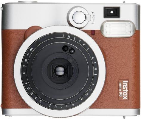 Fujifilm Instax Mini 90 NEO Classic Instant Camera - Brown