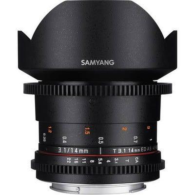 Samyang 14mm T3.1 VDSLR Nikon Full Frame Lens