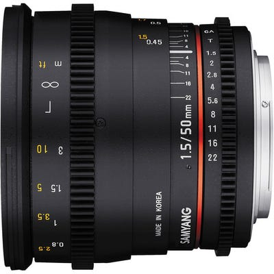 Samyang 50mm T1.5 VDSLR UMC II Sony FE Full Frame Lens