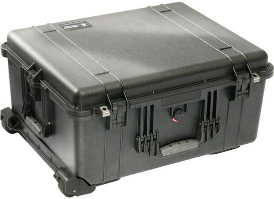 Pelican 1610 Black Case with Padded Dividers