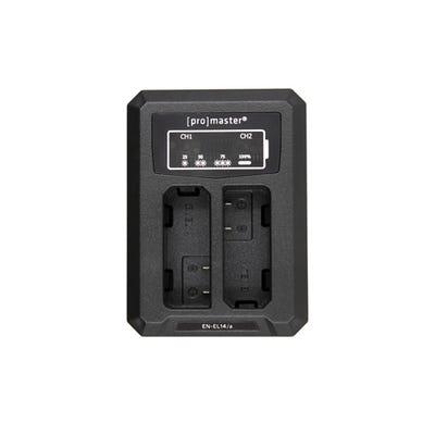 ProMaster Dually Charger - USB - Nikon EN-EL14